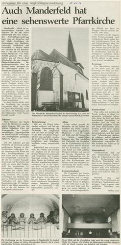 Auch Manderfeld hat eine sehenswerte Pfarrkirche
