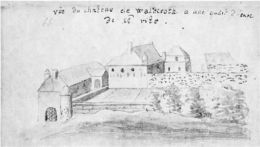 Zeichnung des Schlosses