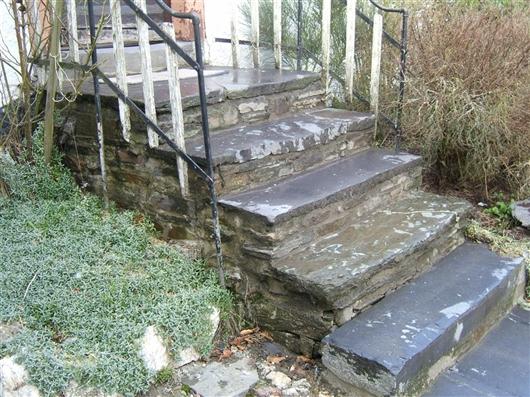 Treppe der Eingangstür