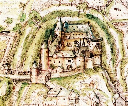 Ansicht der Burg in 1592