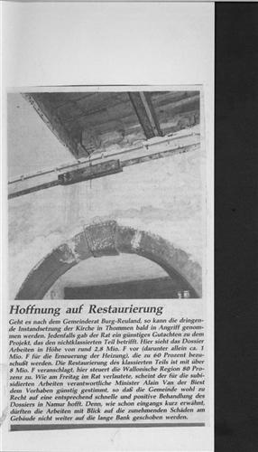 Hoffnung auf Restaurierung