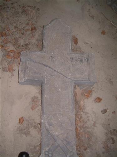 Grabkreuz des Hubert Charles Joseph Deparote
