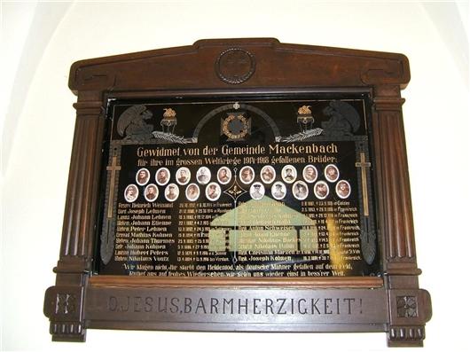 Krieger-Gedenk-Tafel