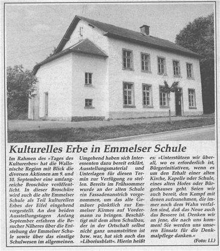 Kulturelles Erbe in Emmelser Schule