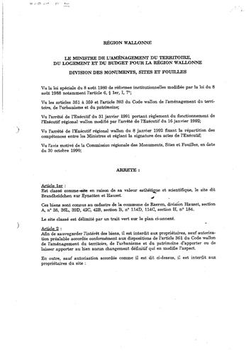 Unterschutzstellungserlass vom 27. August 1993