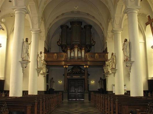 Mittelschiff, Orgel