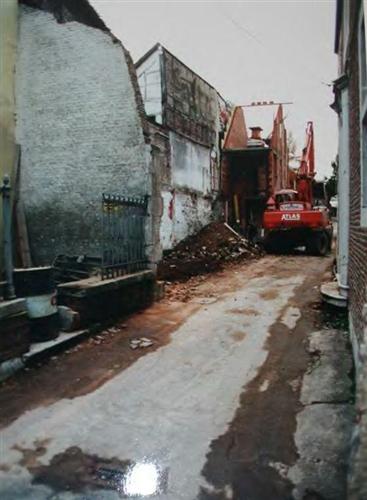 Ostfassade: Umbauarbeiten in 2000