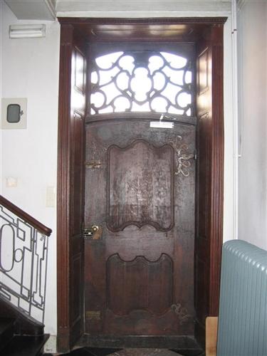 Nord-Westfassade, Eingangstür Tür von innen