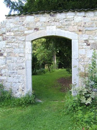 Gartenmauer - Durchgang