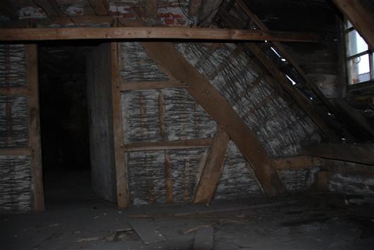 Dachstuhl, vor dem Umbau