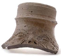 Raerener Steinzeug, Bruchstück (Gesichtskrug) FOR01/084