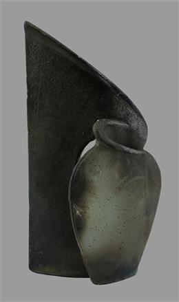 2D-Objekt Vase vor Wand