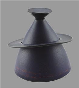 Deckelvase mit Ring