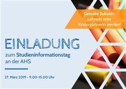 Einladung zum Studieninformationstag - Bildungswissenschaften