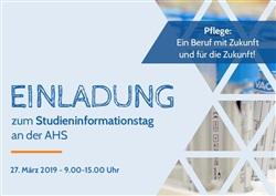 Einladung zum Studieninformationstag - Gesundheits- und Krankenpflegewissenschaften
