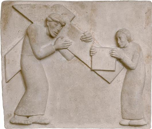 Die hl. Veronika reicht Jesus das Schweisstuch