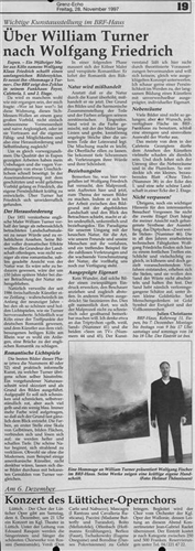 Über William Turner nach Wolfgang Friedrich
