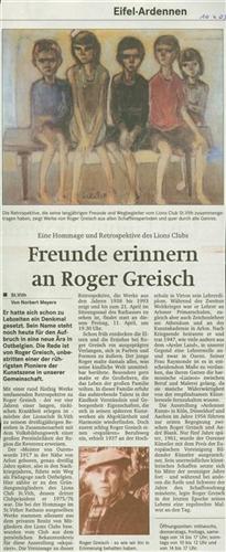 Freunde erinnern an Roger Greisch