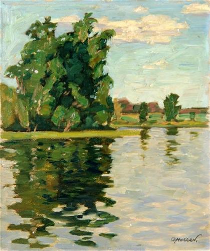 Bäume am Fluss