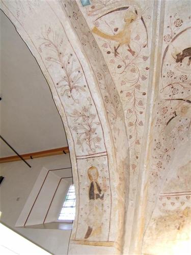 Chorgewölbe-Malereien, Nordseite, Löwe