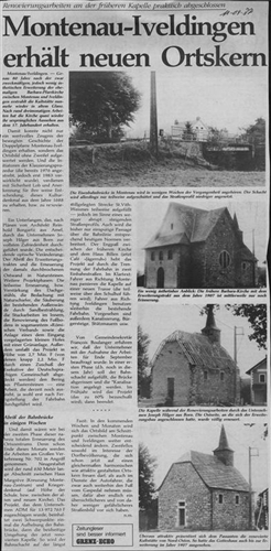 Montenau-Iveldingen erhält neuen Ortskern