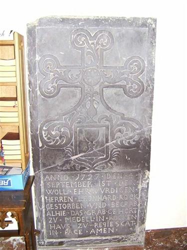 Grabstein von Leonhard Rock