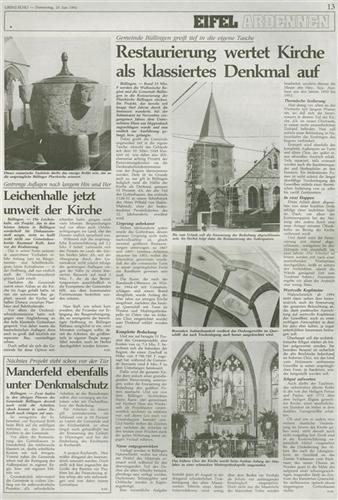 Restaurierung wertet Kirche als klassiertes Denkmal auf