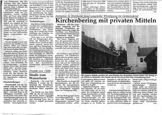 Kirchenberg mit privaten Mitteln