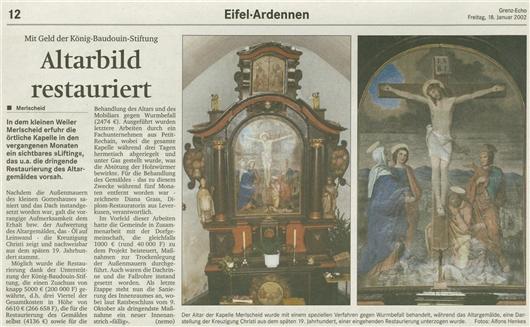 Altarbild restauriert