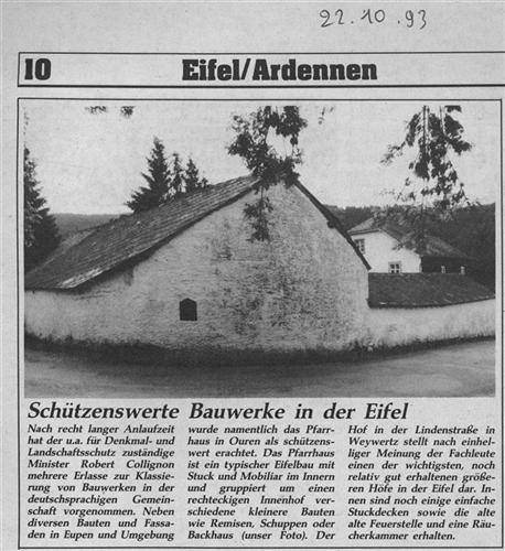 Schützenswerte Bauwerke in der Eifel