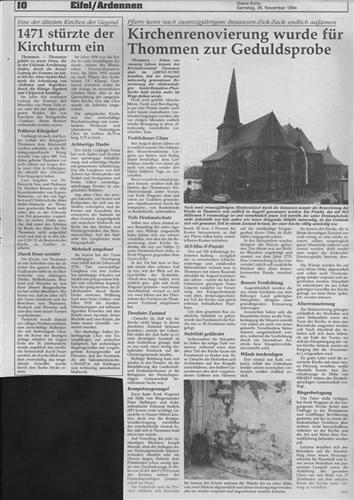 Kirchenrenovierung wurde für Thommen zur Geduldsprobe