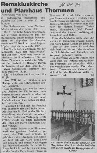 Remakluskirche und Pfarrhaus Thommen