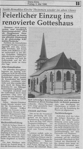 Feierlicher Einzug ins renovierte Gotteshaus