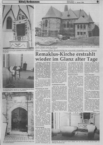 Remaklus-Kirche erstrahlt wieder im alten Glanz alter Tage