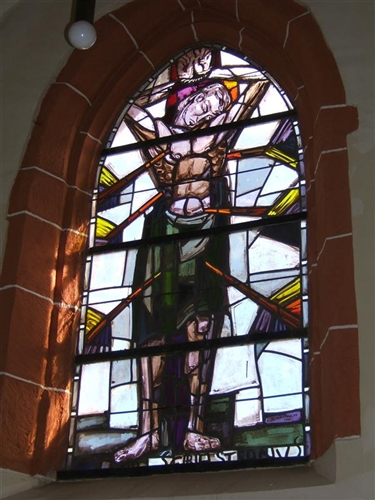 Fenster mit Glasmalerei