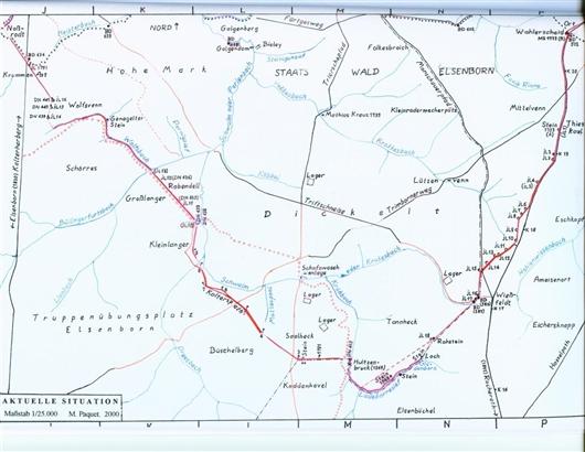 Lageplan der Grenzsteine