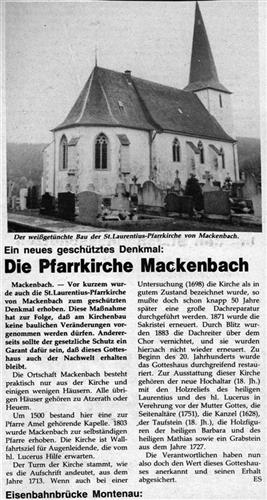 Die Pfarrkirche Mackenbach