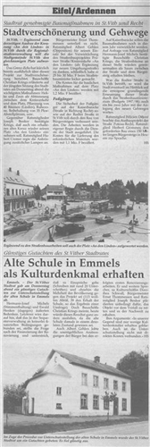 Alte Schule in Emmels als Kulturdenkmal erhalten
