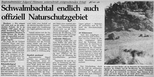 Schwalmbachtal endlich auch offiziell Naturschutzgebiet