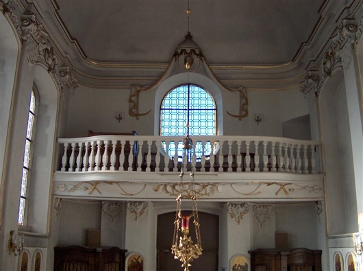 Orgelempore, Stuckornamente