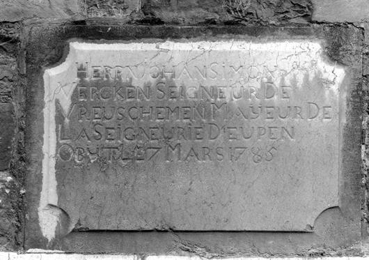 Epitaph des Johan Simon Vercken