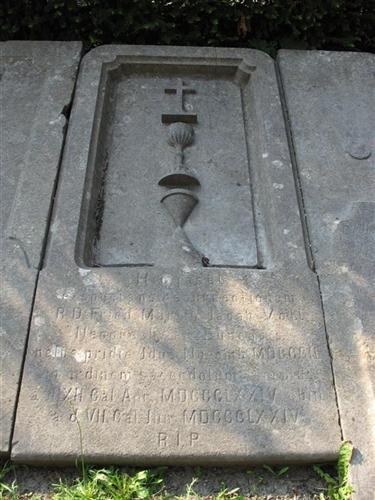 Grabplatte des Friedrich Martin Jacob Voll