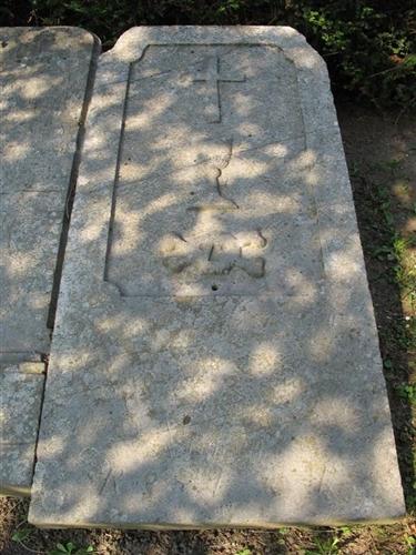 Grabplatte eines Pfarrers