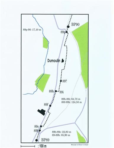 Lageplan der Grenzsteine Nr. 89-90