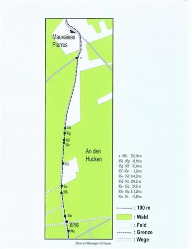 Lageplan der Grenzsteine Nr. 95