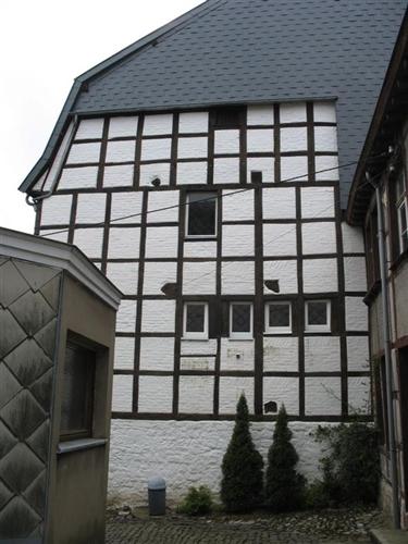Ziegelmauerwerk in Fachwerkkonstruktion