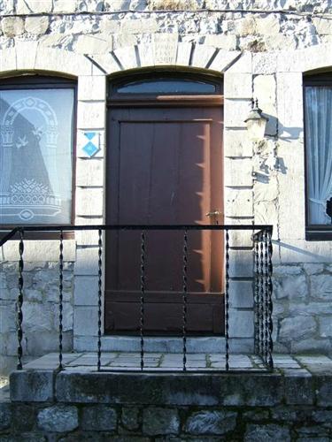 Ostfassade, Eingangstür
