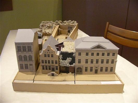 Modell des Museumneubaus