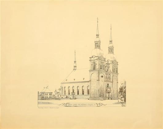 Photolitografie Pfarrkirche St. Nikolaus Eupen