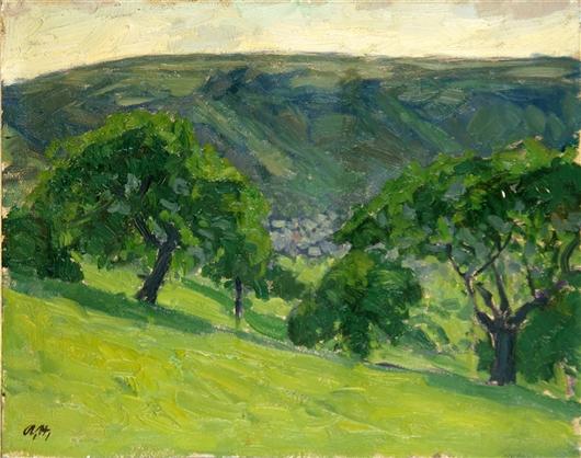 Landschaft mit Hang